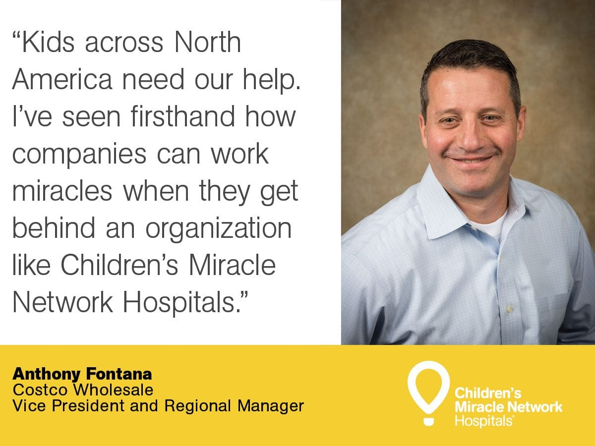 children s miracle network hospitals costco whole corp anthony fontana of costco appointed to cmn hospitals board of governors